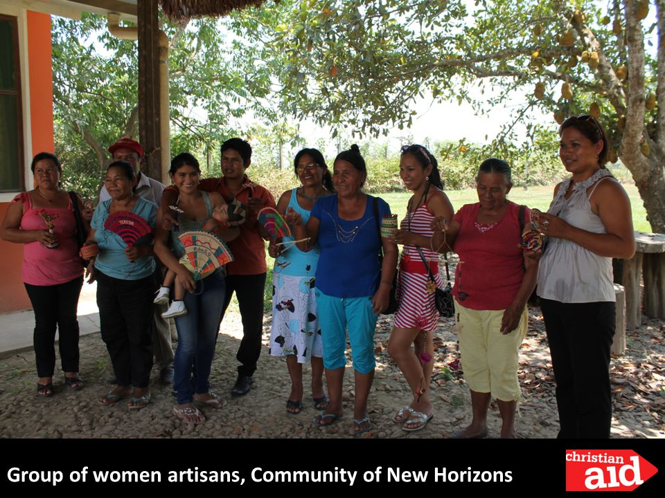 Group of women artisans, Community of New Horizons