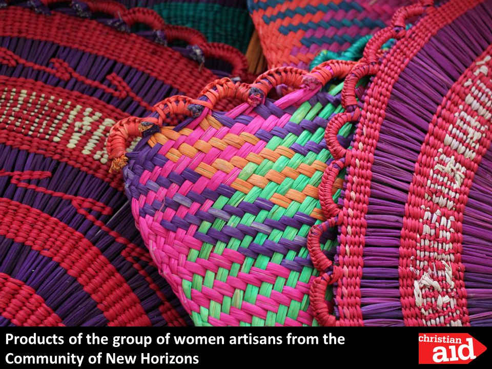 Products of the group of women artisans from the Community of New Horizons