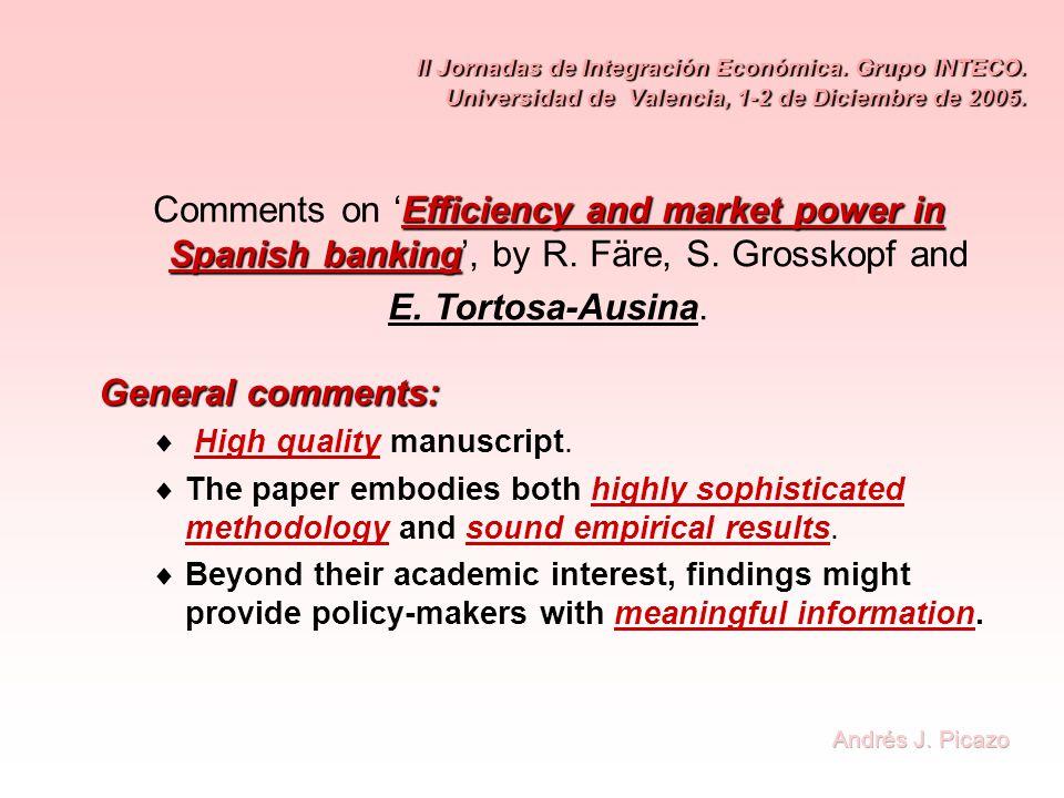 II Jornadas de Integración Económica. Grupo INTECO.