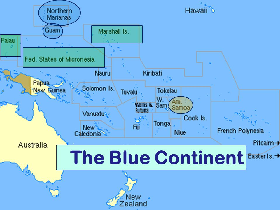 South Where? HISA (WA) November 2004 The Blue Continent