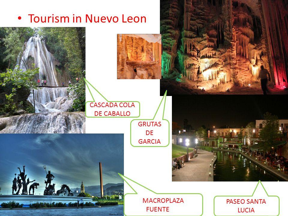 Tourism in Nuevo Leon CASCADA COLA DE CABALLO MACROPLAZA FUENTEMA GRUTAS DE GARCIA PASEO SANTA LUCIA