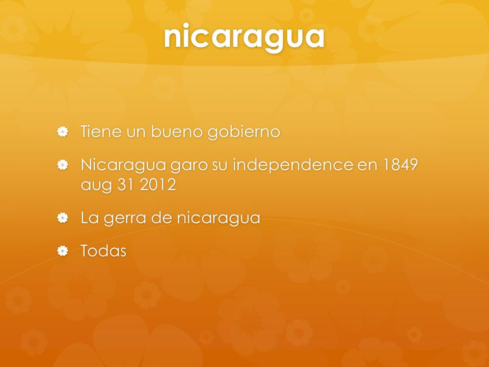 Las idiomas nacionales  La idioma de nicaragua es espanol capital de nicaragua es managua