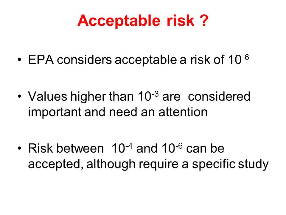 Acceptable risk .