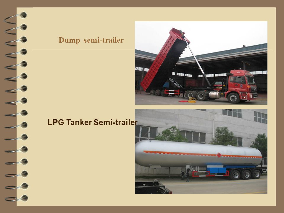 Dump semi-trailer LPG Tanker Semi-trailer