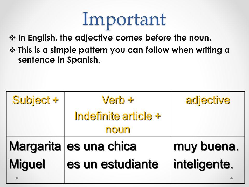 Practica Put the following words in order to form a sentence: 1.chica / artística / una / soy 2.un / soy / inteligente / chico 3.Simpática / una / Alicia / es / chica 4.el Sr.