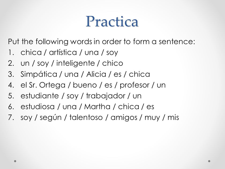 Práctica  Página 62 – actividad 19 * Keep in mind that if we are using a title (like señor or doctor) to start a sentence, we need to use a definite article before the title (el, la).