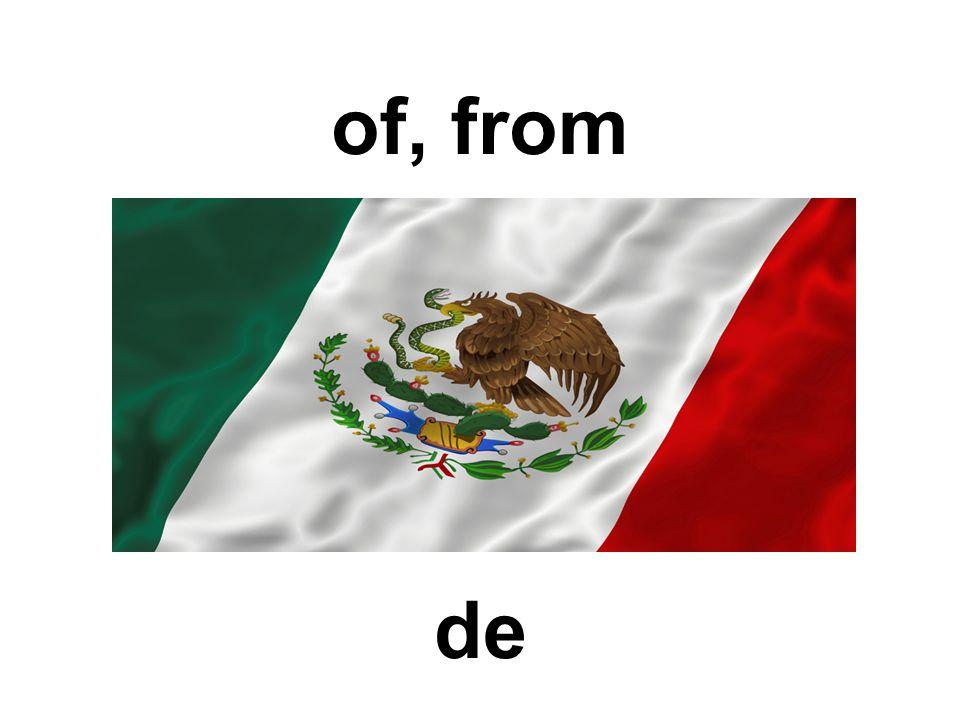 of, from de