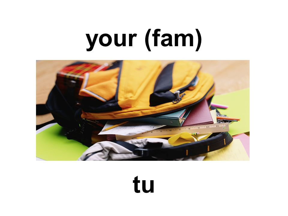 your (fam) tu