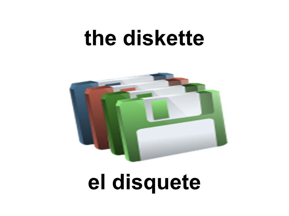 the diskette el disquete
