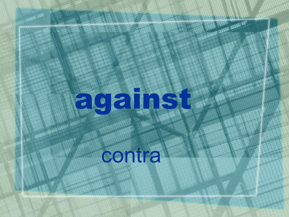 against contra
