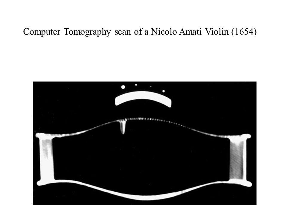Computer Tomography scan of a Nicolo Amati Violin (1654)