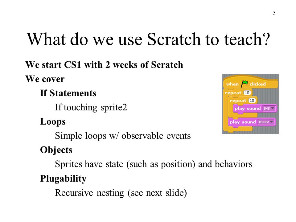 4 What do we use Scratch to teach.