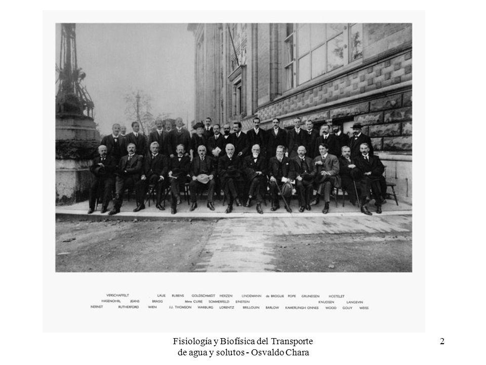Fisiología y Biofísica del Transporte de agua y solutos - Osvaldo Chara 2