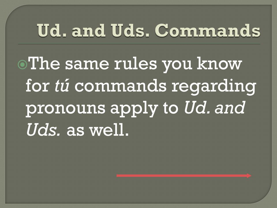  Affirmative and negative Ud. and Uds.
