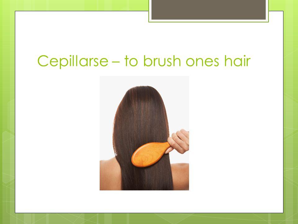 Cepillarse – to brush ones hair