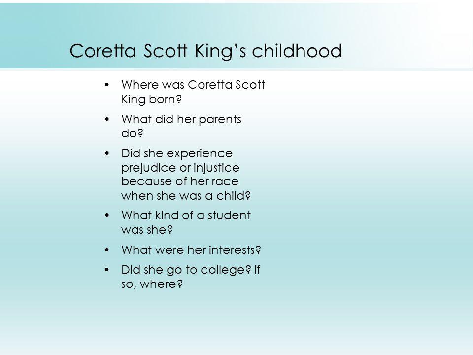 Coretta Scott King's childhood Where was Coretta Scott King born.