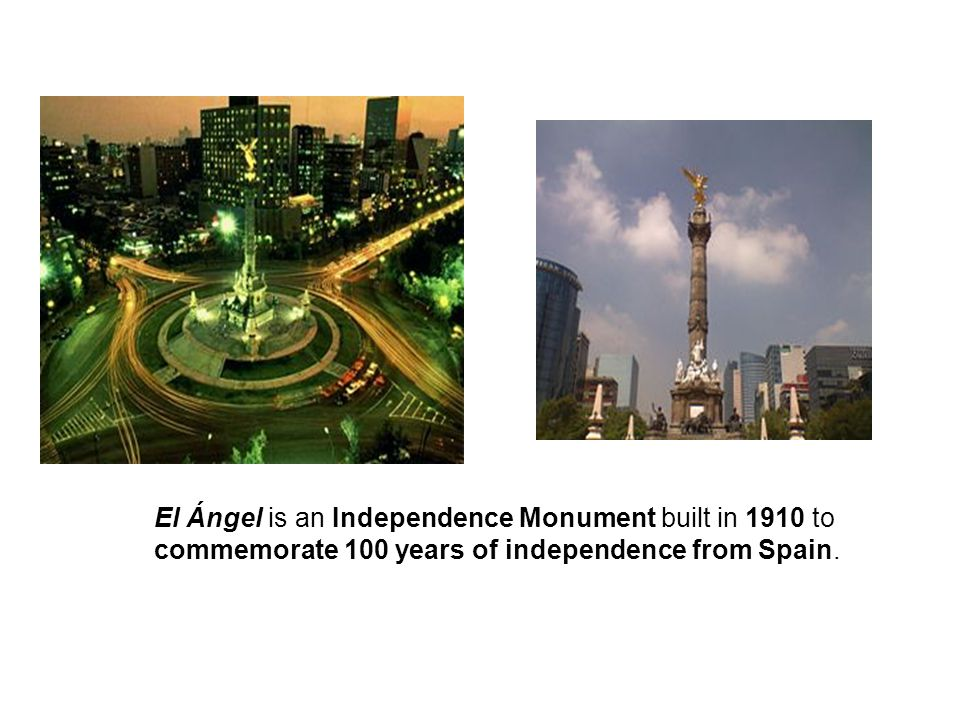 El Ángel is an Independence Monument built in 1910 to commemorate 100 years of independence from Spain.