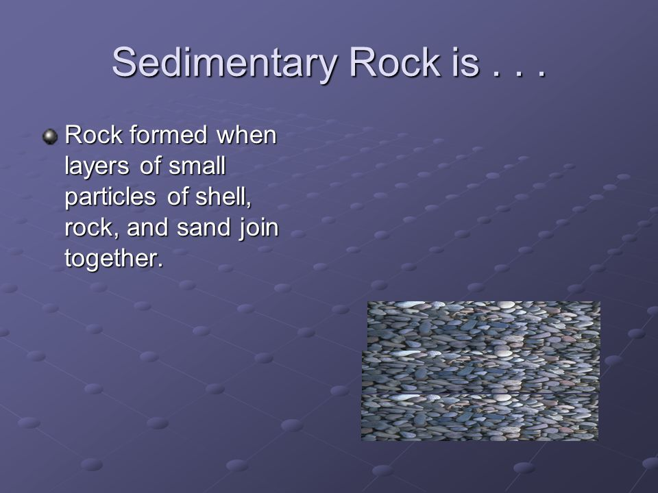 Sedimentary Rock is...