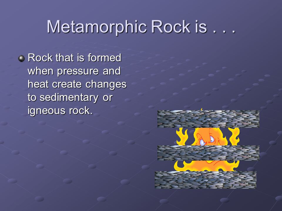 Metamorphic Rock is...