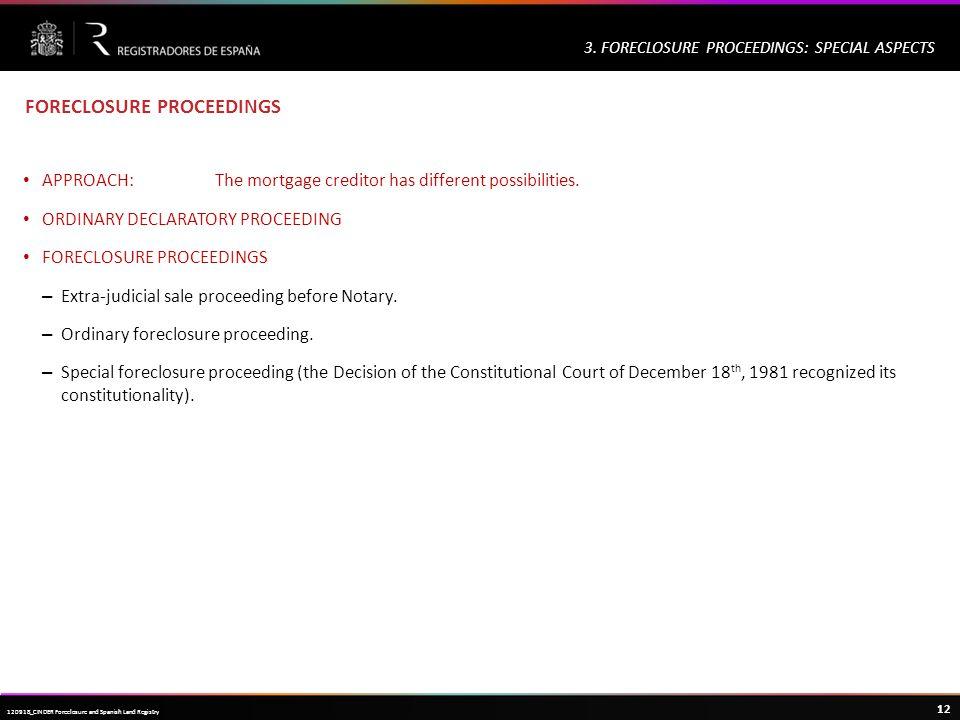 Haga clic para modificar el estilo de título del patrón 12 120918_CINDER Foreclosure and Spanish Land Registry 3.
