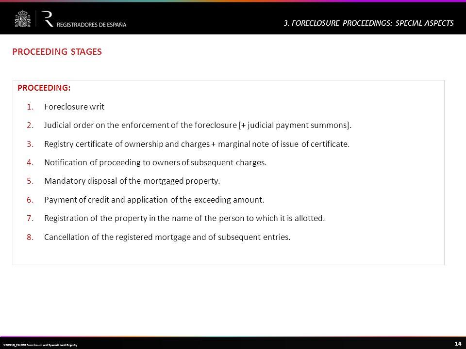 Haga clic para modificar el estilo de título del patrón 14 120918_CINDER Foreclosure and Spanish Land Registry 3.