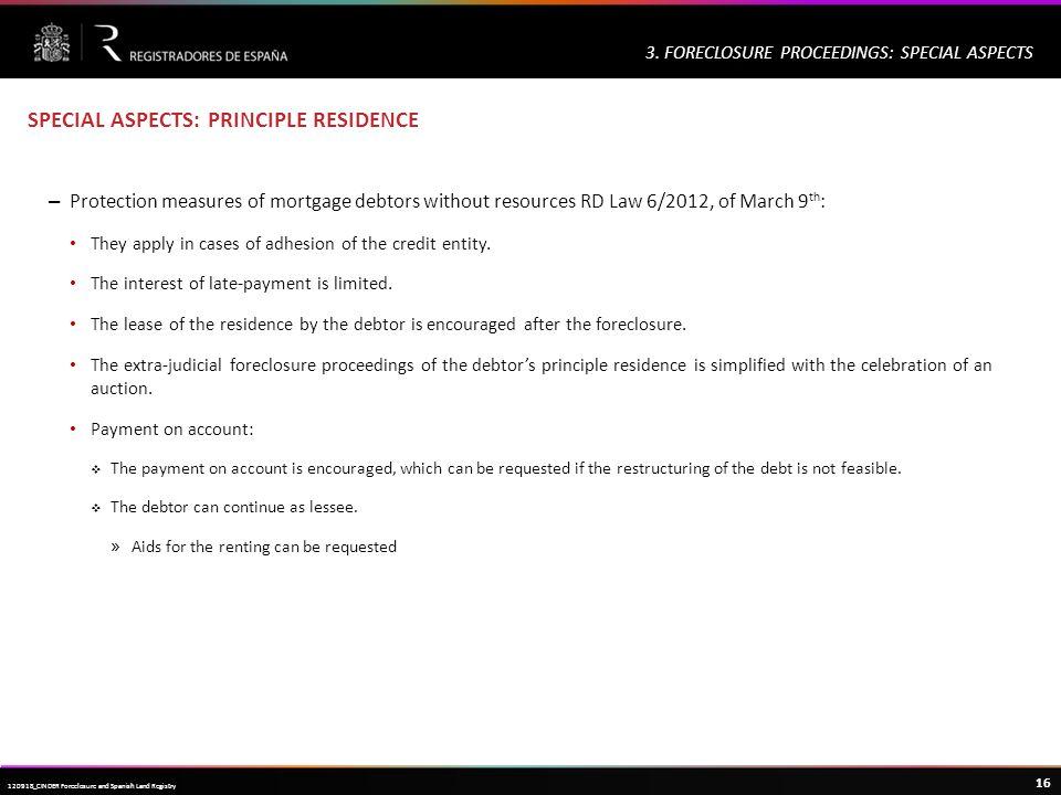 Haga clic para modificar el estilo de título del patrón 16 120918_CINDER Foreclosure and Spanish Land Registry 3.