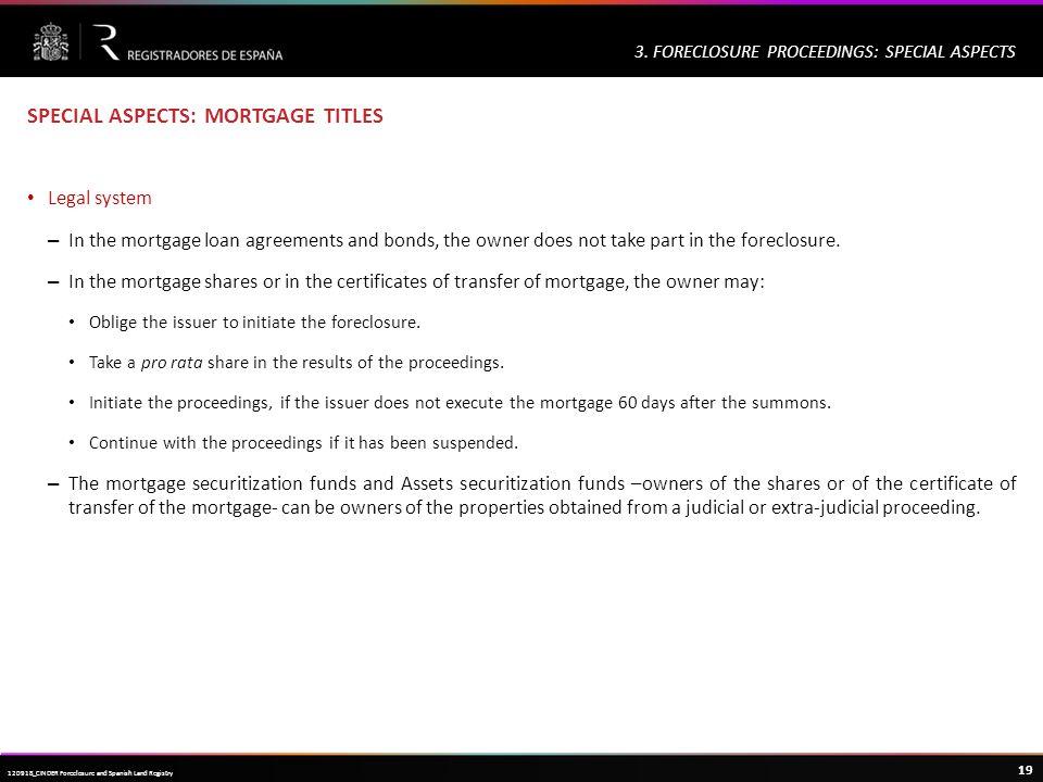 Haga clic para modificar el estilo de título del patrón 19 120918_CINDER Foreclosure and Spanish Land Registry 3.