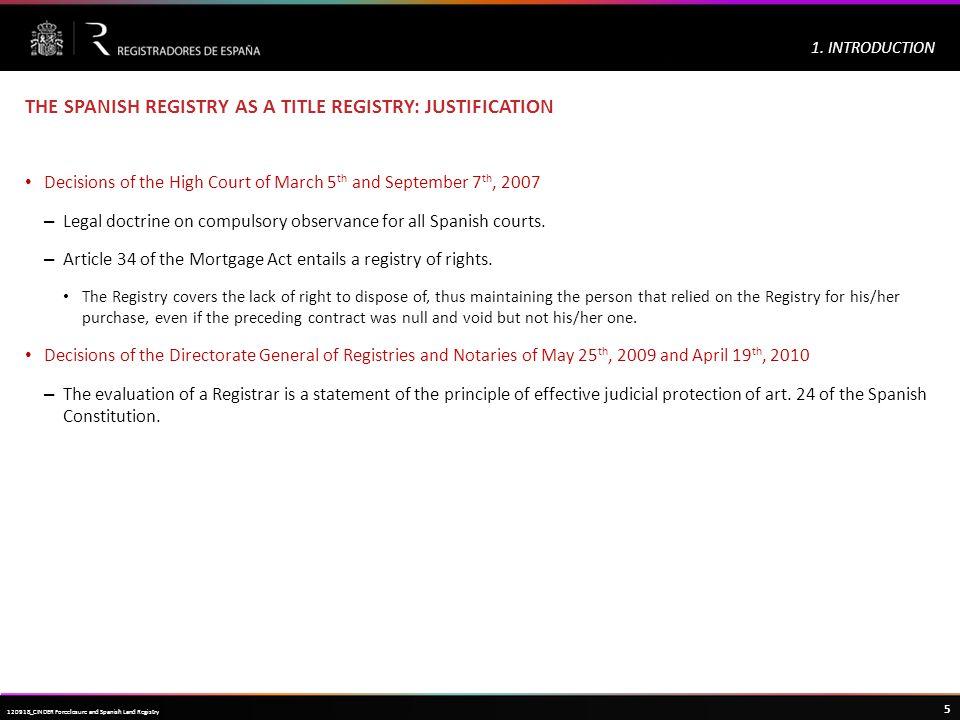 Haga clic para modificar el estilo de título del patrón 5 120918_CINDER Foreclosure and Spanish Land Registry 1.