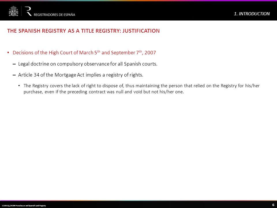 Haga clic para modificar el estilo de título del patrón 6 120918_CINDER Foreclosure and Spanish Land Registry 1.