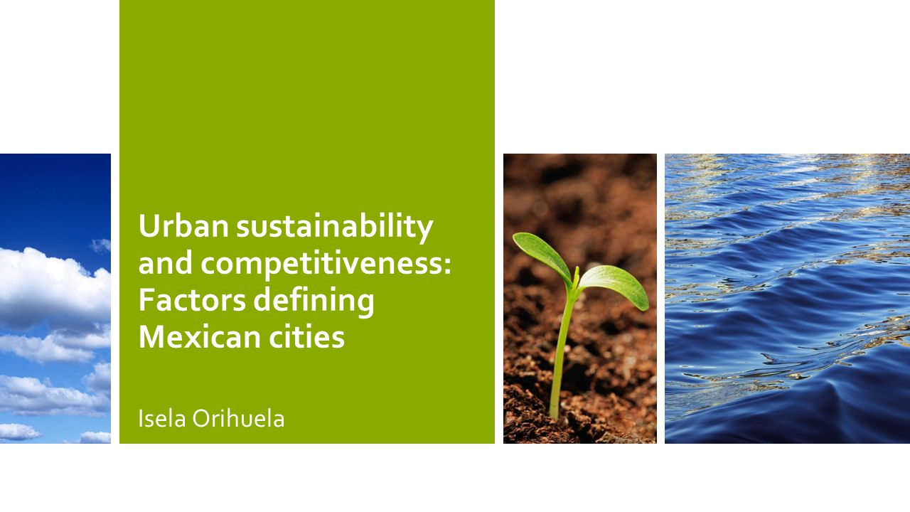 Urban sustainability and competitiveness: Factors defining Mexican cities Isela Orihuela