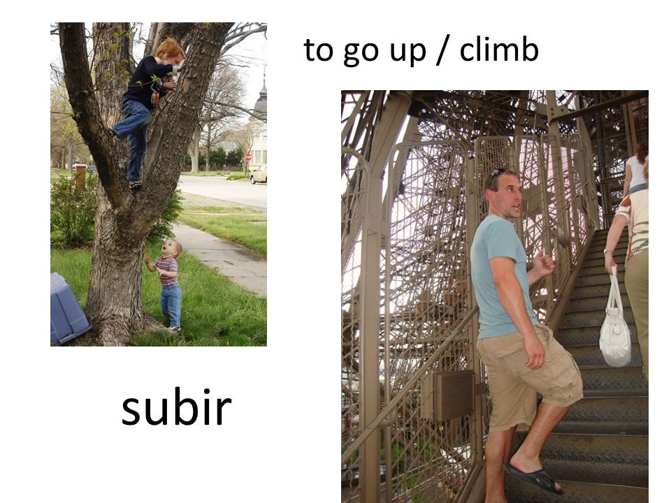to go up / climb subir