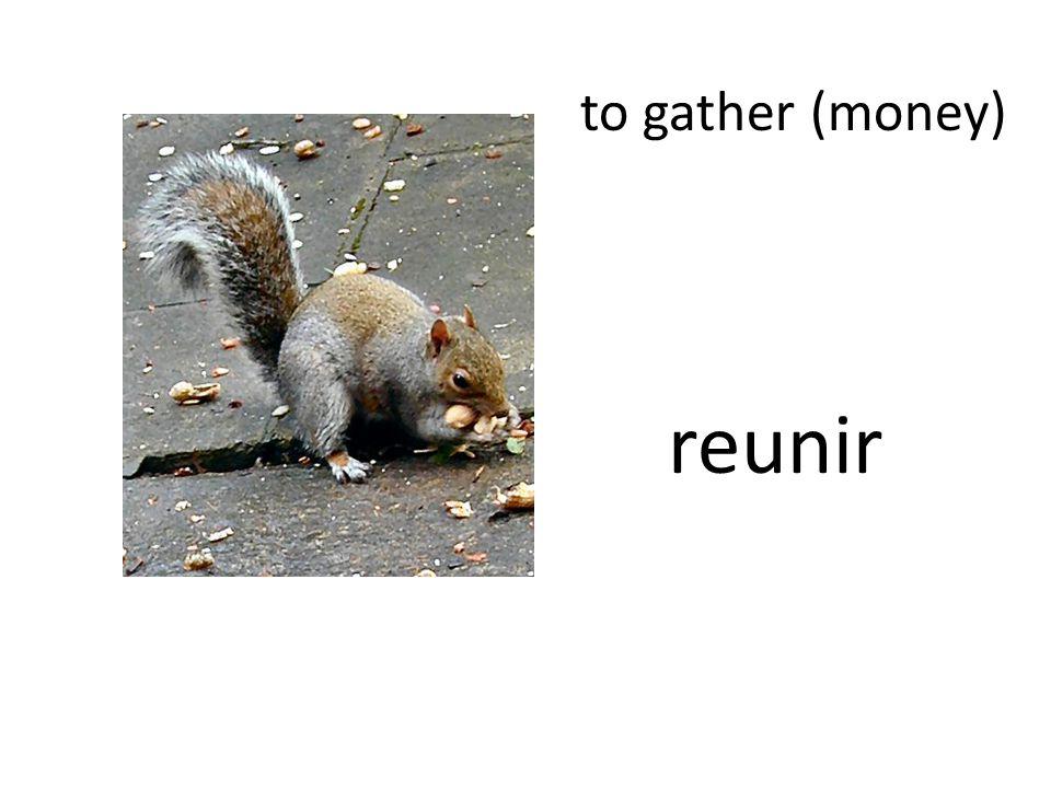 to gather (money) reunir