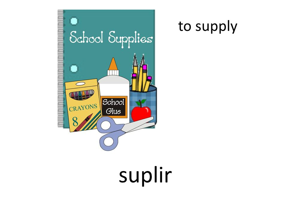 to supply suplir