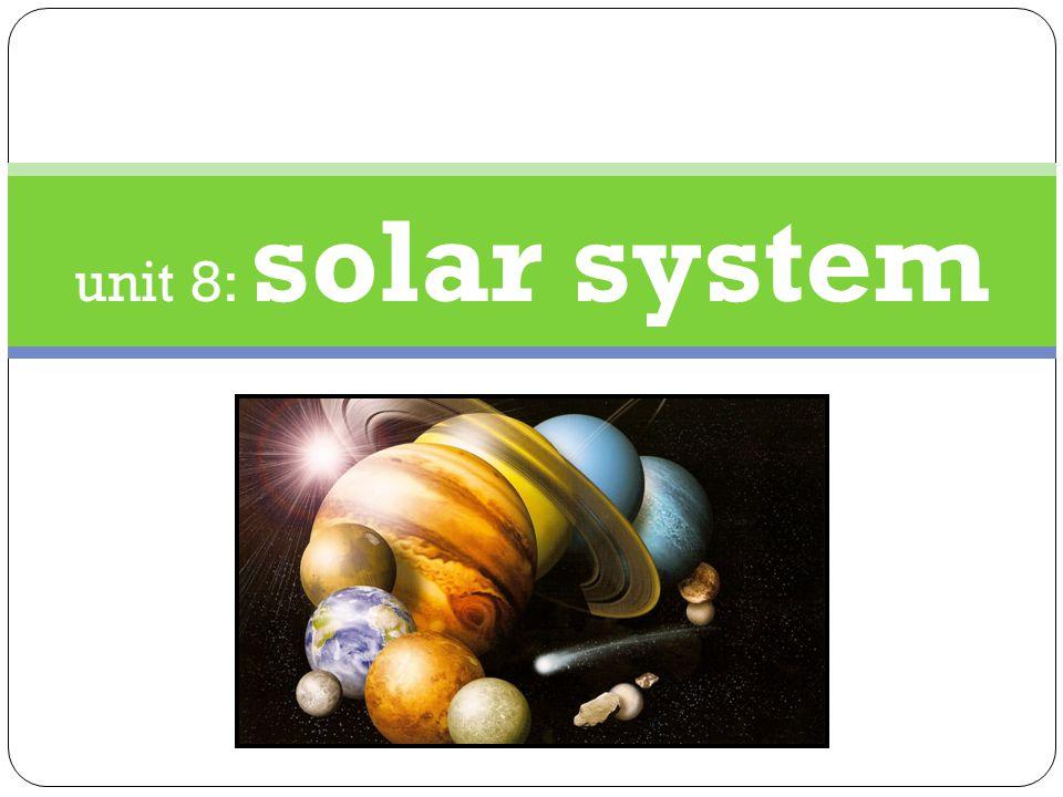 unit 8: solar system
