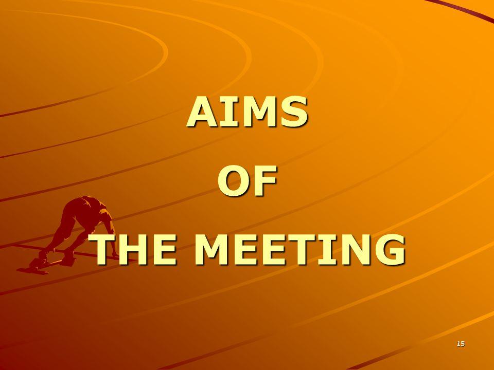15 AIMS OF THE MEETING