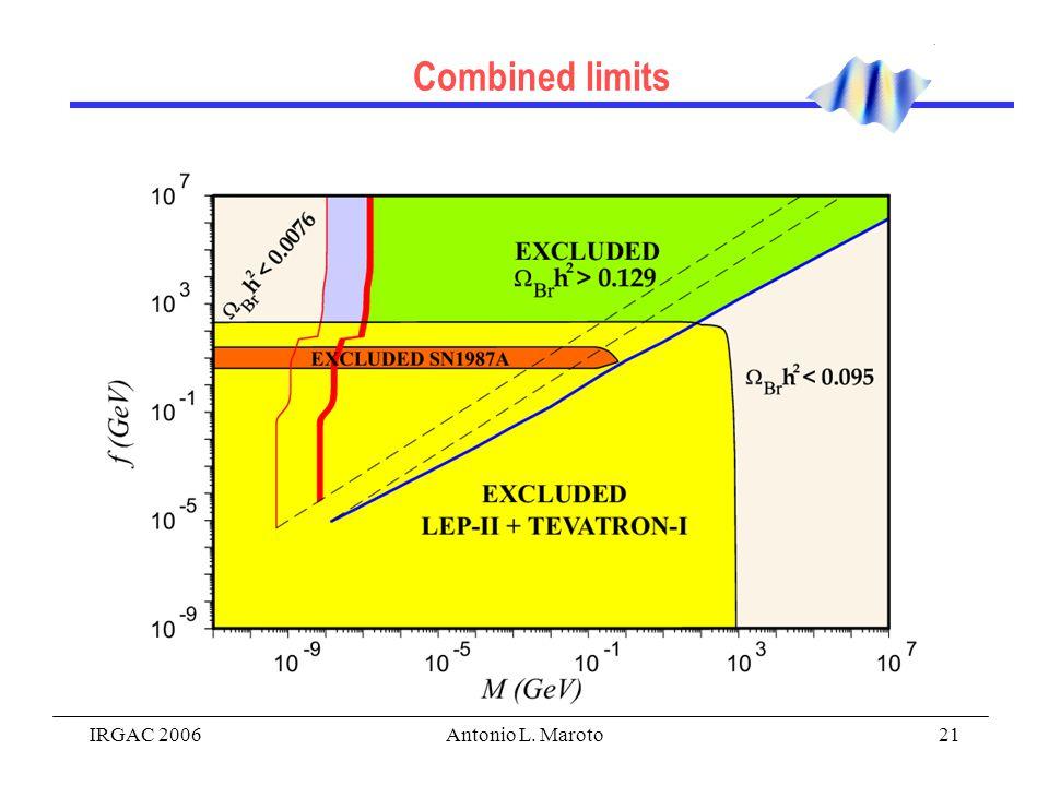 IRGAC 2006Antonio L. Maroto21 Combined limits
