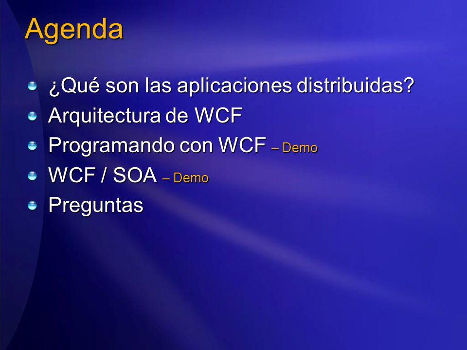 Agenda ¿Qué son las aplicaciones distribuidas.