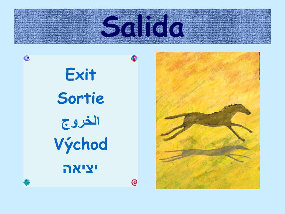 Salida Exit Sortie الخروج Východ יציאה