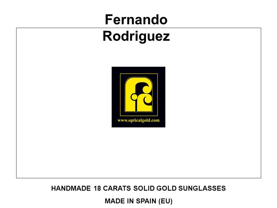 HANDMADE 18 CARATS SOLID GOLD SUNGLASSES MADE IN SPAIN (EU) Fernando Rodriguez