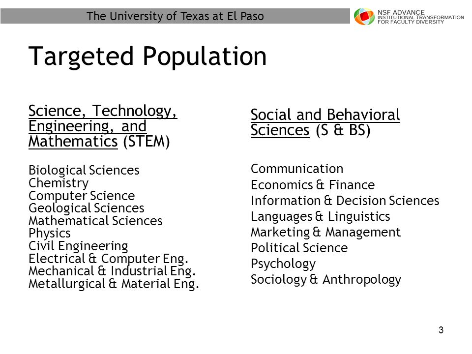 The University of Texas at El Paso 4 Areas Addressed Basic Demographic Hiring Process Resources Interactions With Colleagues And Others Departmental Decision-Making Process Perceptions of Gender Diversity Tenure Process Satisfaction with UTEP