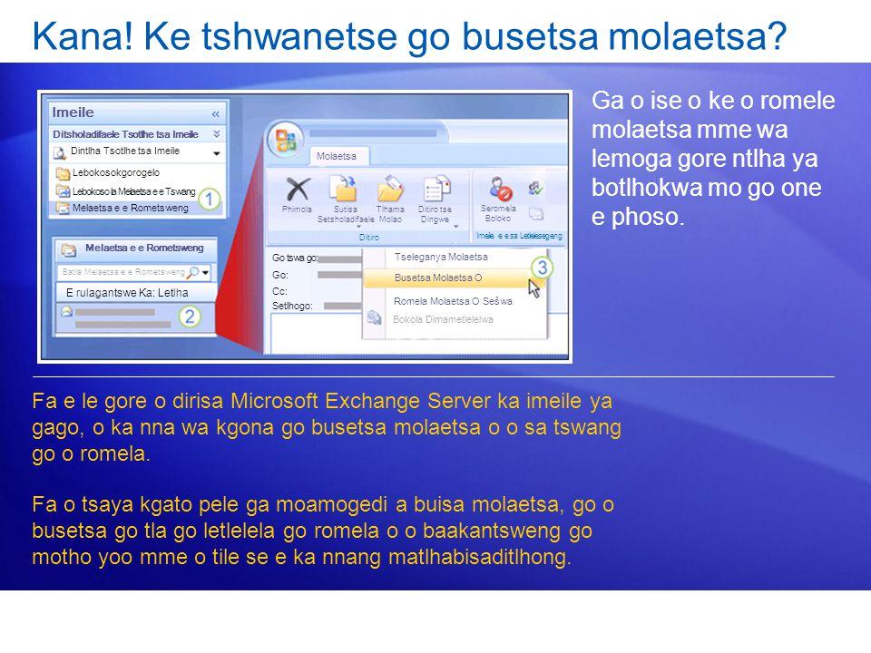 Kana! Ke tshwanetse go busetsa molaetsa? Ga o ise o ke o romele molaetsa mme wa lemoga gore ntlha ya botlhokwa mo go one e phoso. Fa e le gore o diris