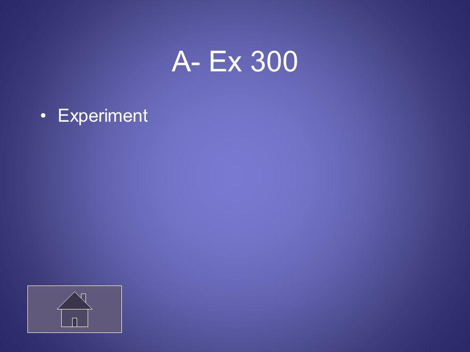 A- Ex 300 Experiment