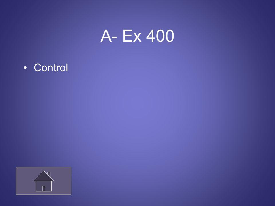 A- Ex 400 Control