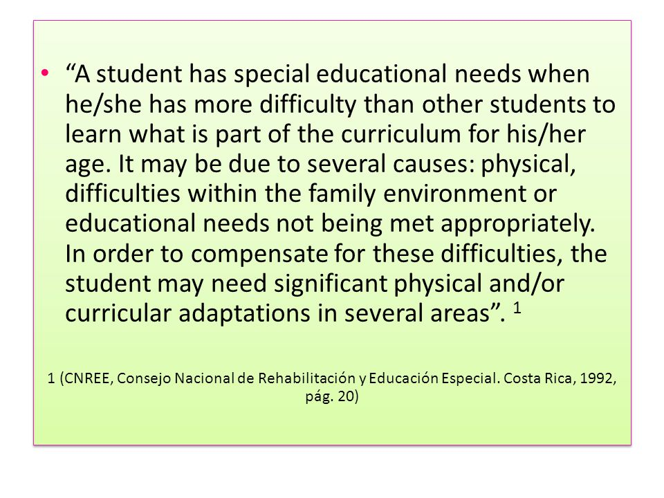 Educational inclusion allows children with special educational needs to receive instruction in mainstream classrooms and schools with the necessary support. 2 What is Educational Inclusion.