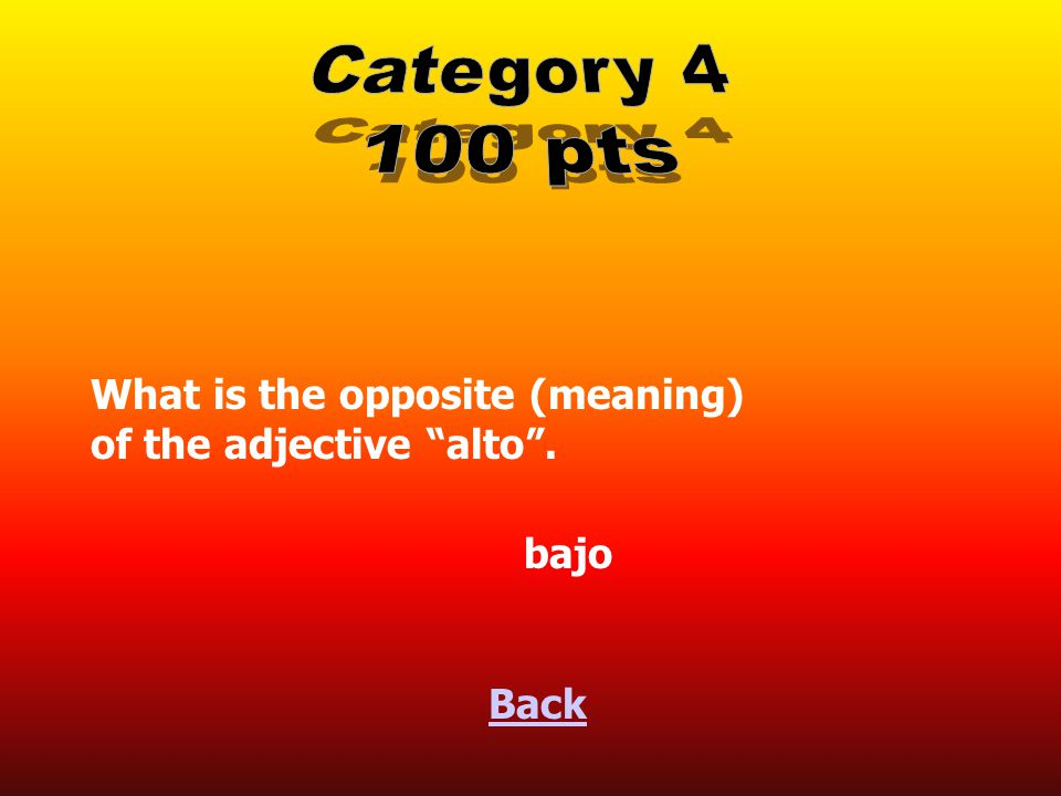 Back What is the femenine plural form of the adjective bueno . buenas