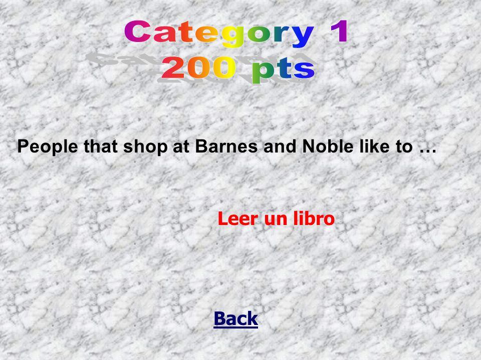 Back People that shop at Barnes and Noble like to … Leer un libro