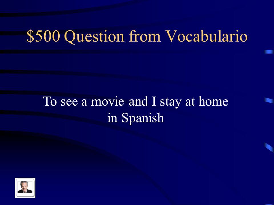 $400 Answer from Vocabulario La mezquita