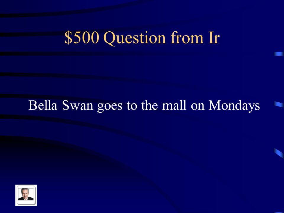 $400 Answer from Ir Yo voy de compras