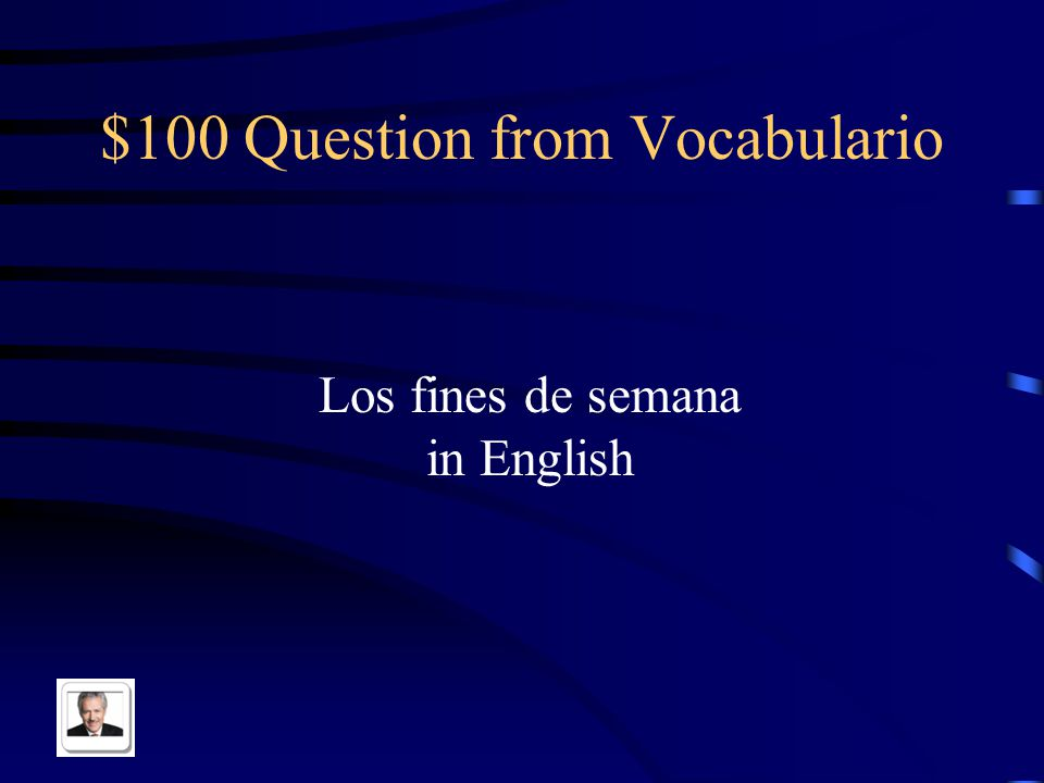 $100 Question from Pot Luck Library in Spanish