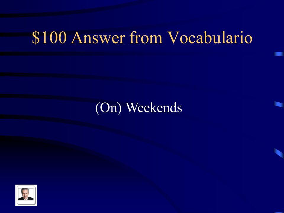 $100 Answer from Pot Luck Biblioteca